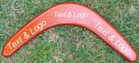Plywood boomerang with your text & logo
