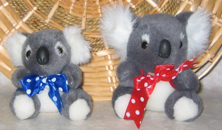 small koala toys in corporate jackets with your logo