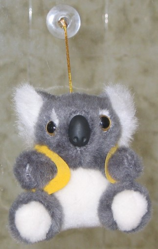 3.5 inch / 9 cm koala toy with suction on head feature
