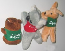 Corporate magnets soft toys - kangaroo, koala, wombat