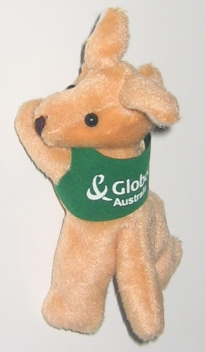 corporate kangaroo toy - fridge magnet